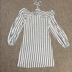 NWT Blue and White Striped Halter Dress